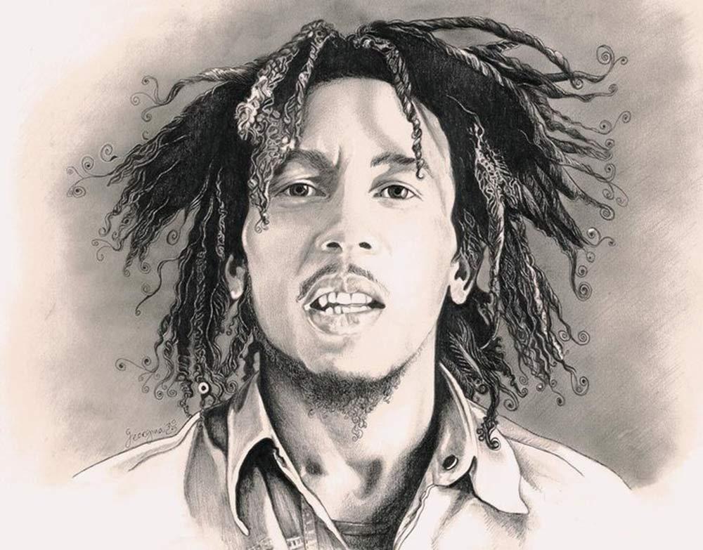 Drawing of Bob Marley