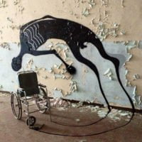 Wheelchair and shadow